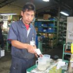 ウレタンゴム原料の工程にとっての注意