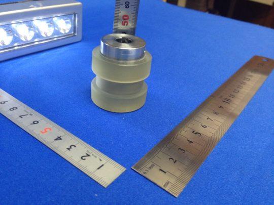 ウレタンゴムライニング80度溝付きクラウン加工つきです。