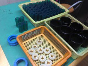 この頃は、色んな色のウレタンゴムを製造しています。 - ウレタンゴム加工