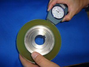 4面プレーナー加工に使用するウレタンローラー - ウレタンゴム加工