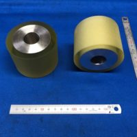 ウレタンゴム紙送りローラー60度ローレット(溝)付き